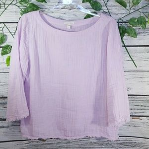 Like new Eileen Fisher 100% organic cotton blouse